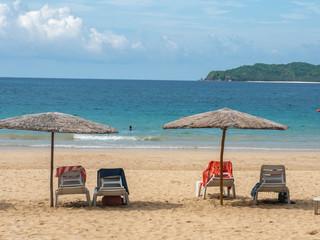 Beautiful landscape on the Nacpan Beach at El nido, Palawan