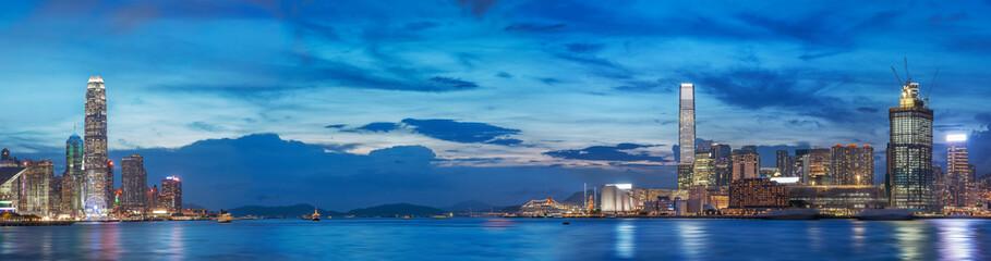 Victoria Harbor of Hong Kong at dusk Wall mural