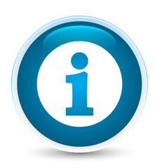 Info icon special prime blue round button