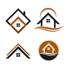 Simple Unique home house Icon Symbol Logo For Business