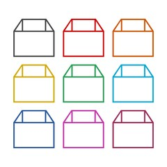 Package Delivery logo, Box icon, color set
