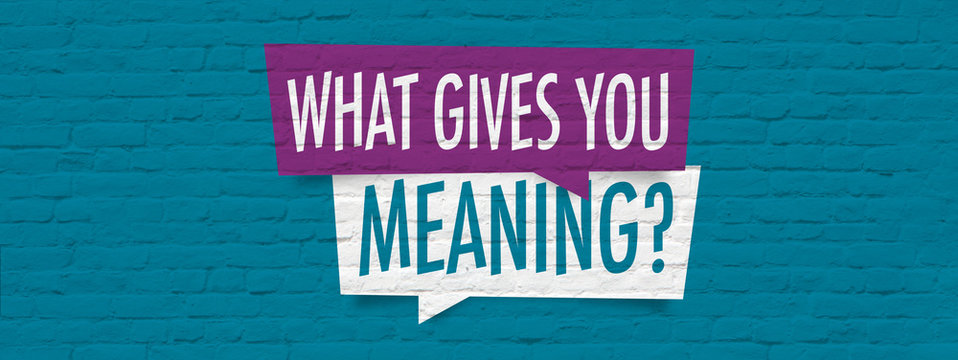 What gives you meaning ?