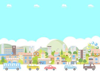 街並み 交通 イラスト
