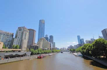 Skyscraper cityscape Melbourne Australia