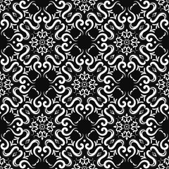 elegant luxurious damask floral art seamless pattern design