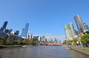 Skyline Cityscape Melbourne Australia