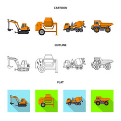 Vector illustration of build and construction sign. Collection of build and machinery stock vector illustration.