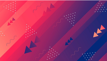 Colorful dynamic shapes composition on gradient background. Geometric trendy template for poster cover banner flyer report brochure vector illustration