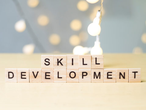 Skill Development, Business Words Quotes Concept