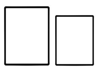 Tablet blank screen frameless