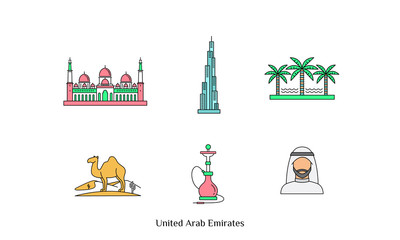 United Arab Emirates Icons for Designcrowd contest