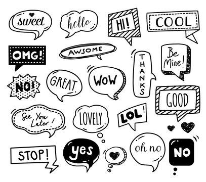 Speech Bubbles - Doodles