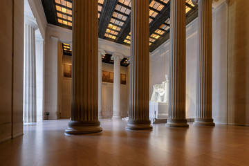 The Lincoln Memorial indoors at Sunrise on the National Mall in Washington DC. Wall mural