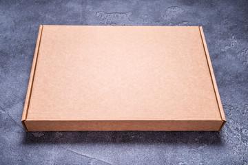 Empty new brown cardboard box
