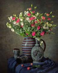 Still life with beautiful bouquet
