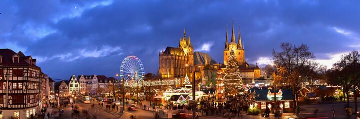 Panorama Erfurter Weihnachtsmarkt