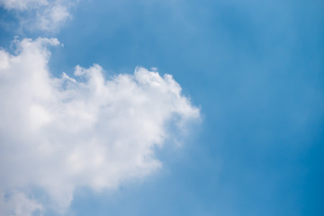 Beautiful clouds with blue sky background, Blue sky and white cloud, tiny clouds.