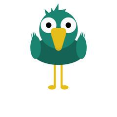 Bird Mallard Duck Cute Animal Cartoon Character For Kids