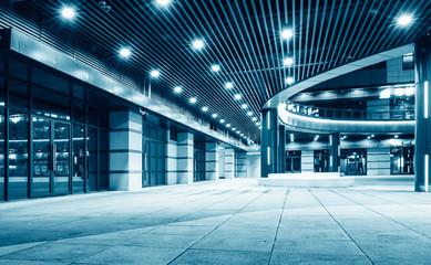 Corridor Corridor of Metallic Wall in Modern Architecture