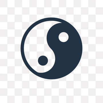 Yin Yang vector icon isolated on transparent background, Yin Yang  transparency concept can be used web and mobile