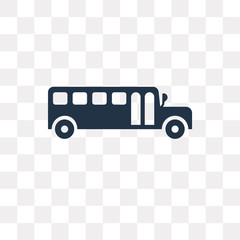 School bus vector icon isolated on transparent background, School bus  transparency concept can be used web and mobile