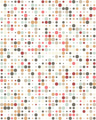 Seamless vector pattern with colorful dots, abstract background