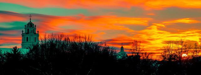 Vilnius evening sky