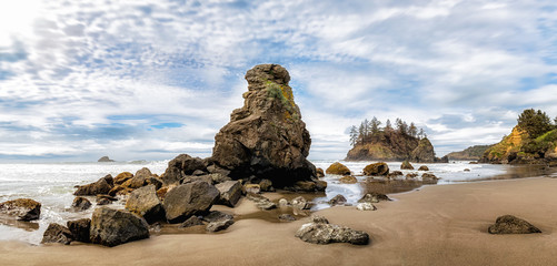 Grandmother Rock Standing Proudly at Trinidad State Beach, California, USA