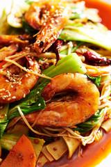 Spicy stir fried shrimp