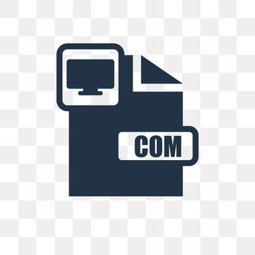Com vector icon isolated on transparent background, Com  transparency concept can be used web and mobile