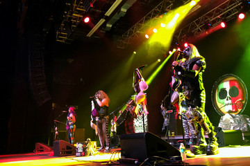 Metalachi, the self-proclaimed first and only heavy metal mariachi band perform on stage at the House of Blues in Anahaim