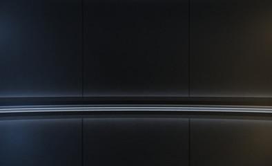 Elegant futuristic empty stage. Modern Future background. Hi tech Sci-fi interior concept. 3d rendering