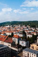 Aerial view of La Chaux de Fonds cityscape, Switzerland