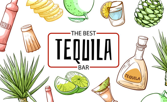 Tequila the best refreshment bar and beverage banner