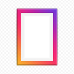 Bright photo frame.