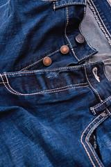 Fashionable blue men's jeans trousers