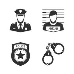 Police icon set.
