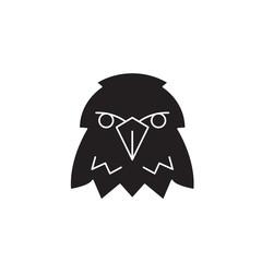 Eagle head black vector concept icon. Eagle head flat illustration, sign, symbol