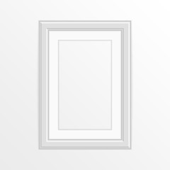Single white photo frame.