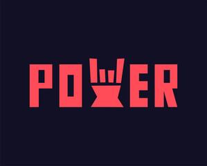 Rock hand power vector illustration