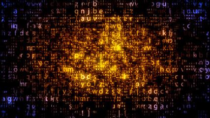 Plazma Matrix Letters Going Down