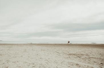 Deserted Beach in Alicante, Spain. Valencia region