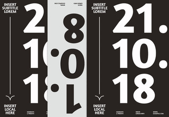 Black and White Event Poster Layout with Bold Text
