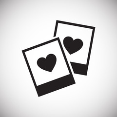 Photo cards heart icon on white background for graphic and web design, Modern simple vector sign. Internet concept. Trendy symbol for website design web button or mobile app