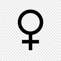 Female icon vector transparent grid