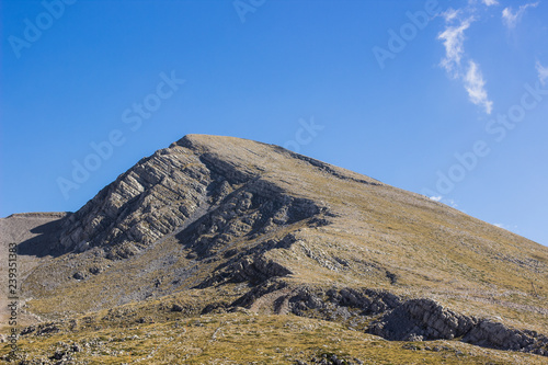 Bare High And Steep Lonely Mountain Nature Scenery Landscape