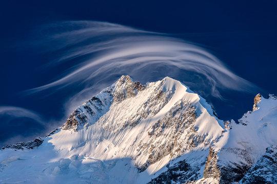 Piz Bernina and Biancograt, Switzerland