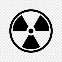 Radiation icon vector transparent grid