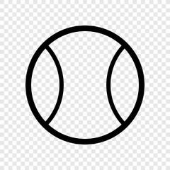 Tennis ball icon transparent grid