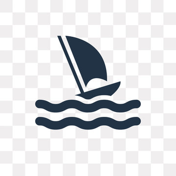 Windsurf vector icon isolated on transparent background, Windsurf  transparency concept can be used web and mobile